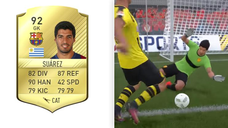 We mocked up a version of how Suarez's GK card could look