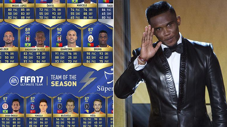 Eto'o at the Ballon D'Or ceremony in January – the star's new 90-rated card is absolutely incredible
