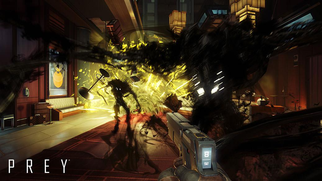 Prey blends first-person shooter mechanics with RPG style exploration