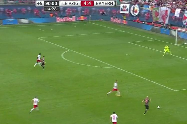 Robben charged down the right-wing with only seconds remaining