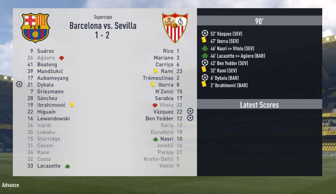 It's a shocking start as Barca lose their first match against Sevilla