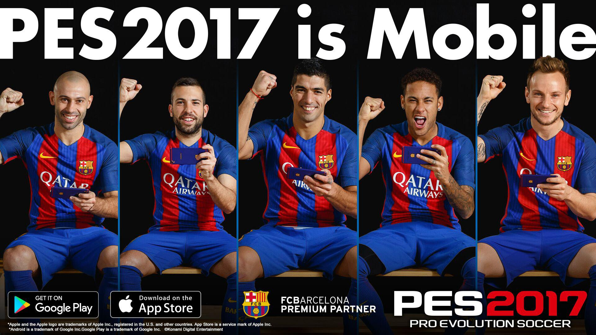 The Barcelona team have got behind the launch – posing 'naturally' with their mobile phones