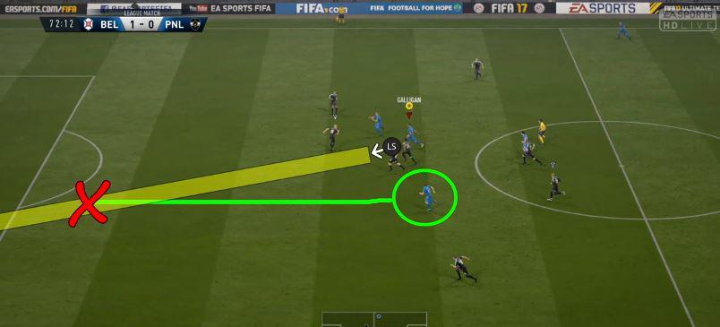 You'll need to keep an eye on the power bar to perform the perfect pass