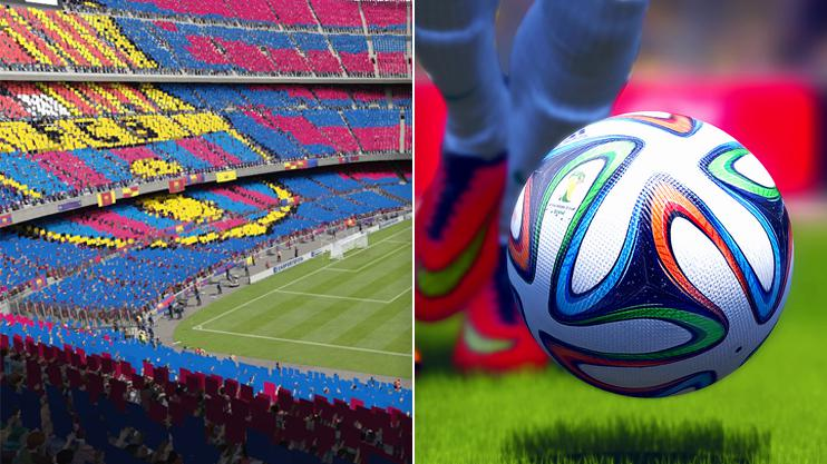 There are a host of mods available for FIFA 15 and, right, FIFA 14 – most of which dramatically improve the graphics