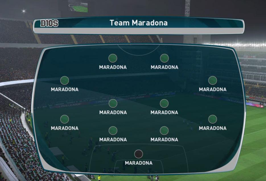 If you've ever wondered what Maradona would be like in goal then look no further
