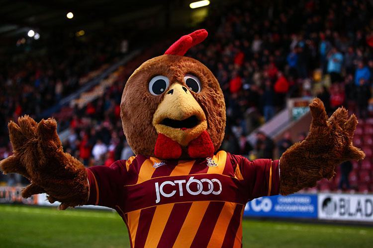 Barry Bantam enjoying the big win over Rochdale