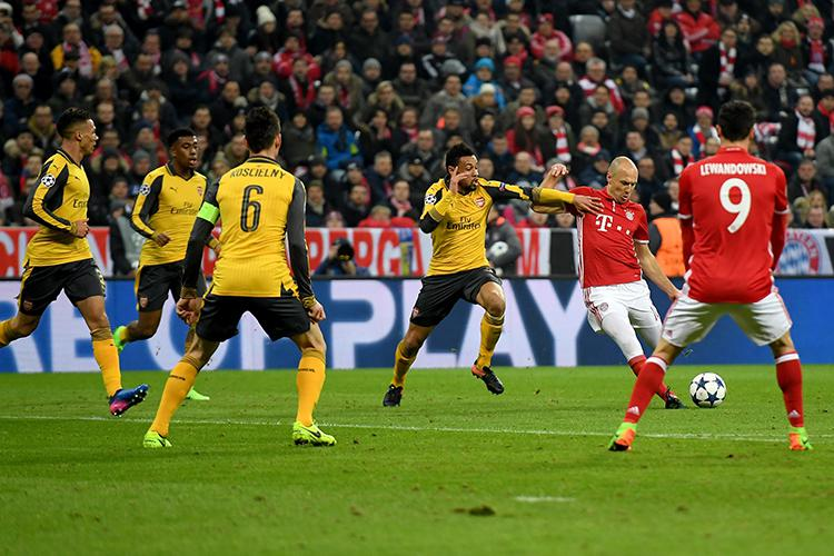 Four men and a better placed team-mate couldn't stop Robben from cutting in