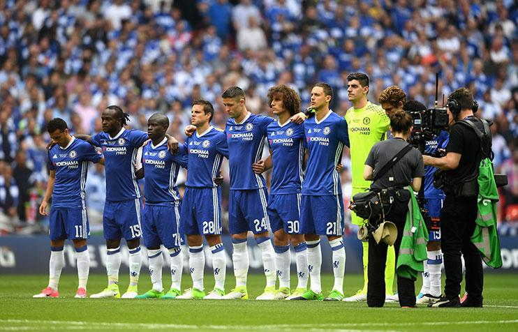 …while Chelsea's players did not.