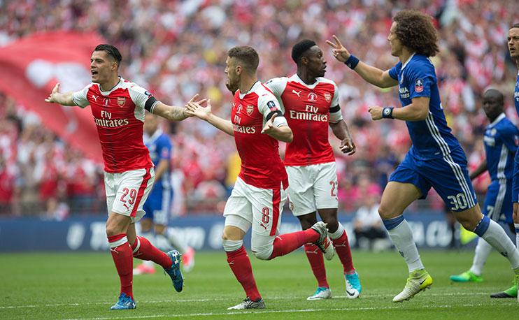 Arsenal faced Chelsea in a tense FA Cup final