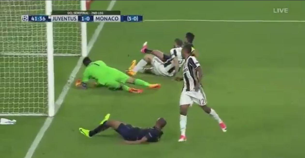 Despite ending up practically on his own goalline