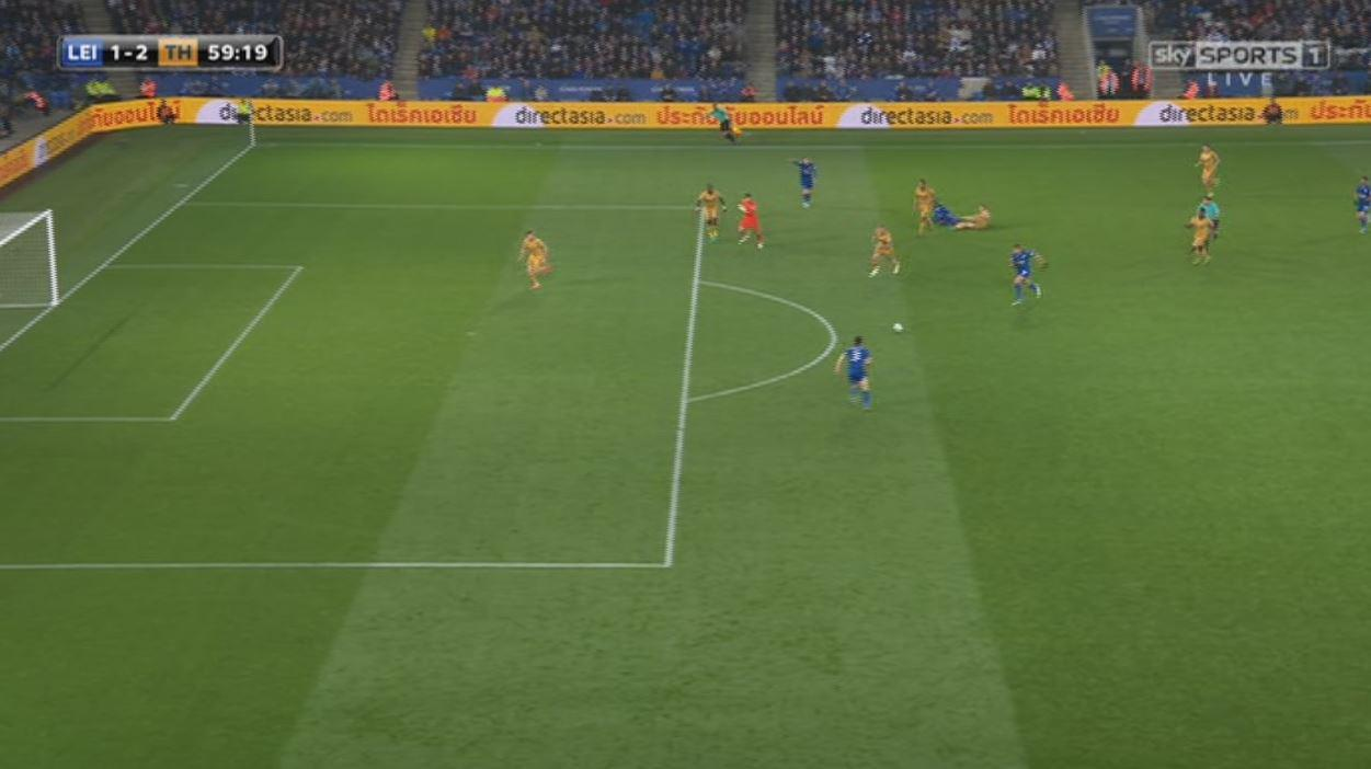Chilwell had an open goal from distance