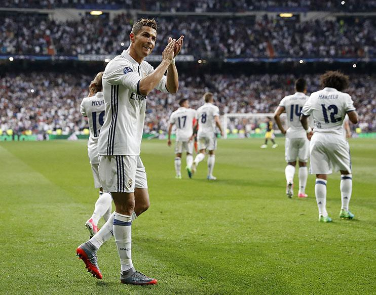 Cristiano Ronaldo's brilliant hat-trick secured a 3-0 win over local rivals Atletico Madrid this week