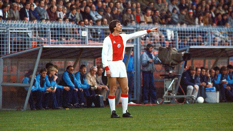 Johan Cruyff is regarded as Ajax's greatest ever player