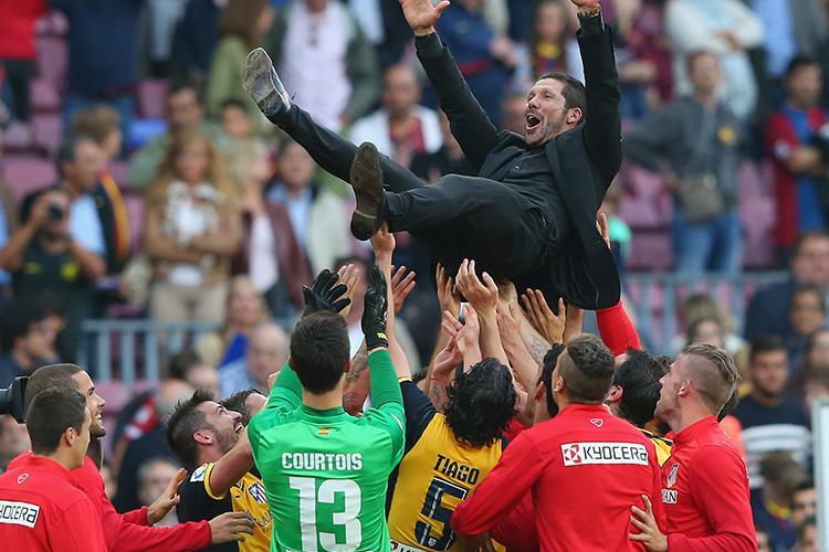 Atletico celebrate winning La Liga in 2014
