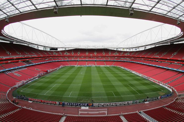 PICTURED: The Emirates two minutes before kick-off in all their Europa League fixtures