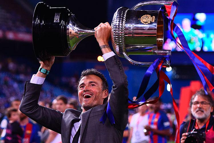 Luis Enrique left Barcelona on a high after winning the Copa del Rey