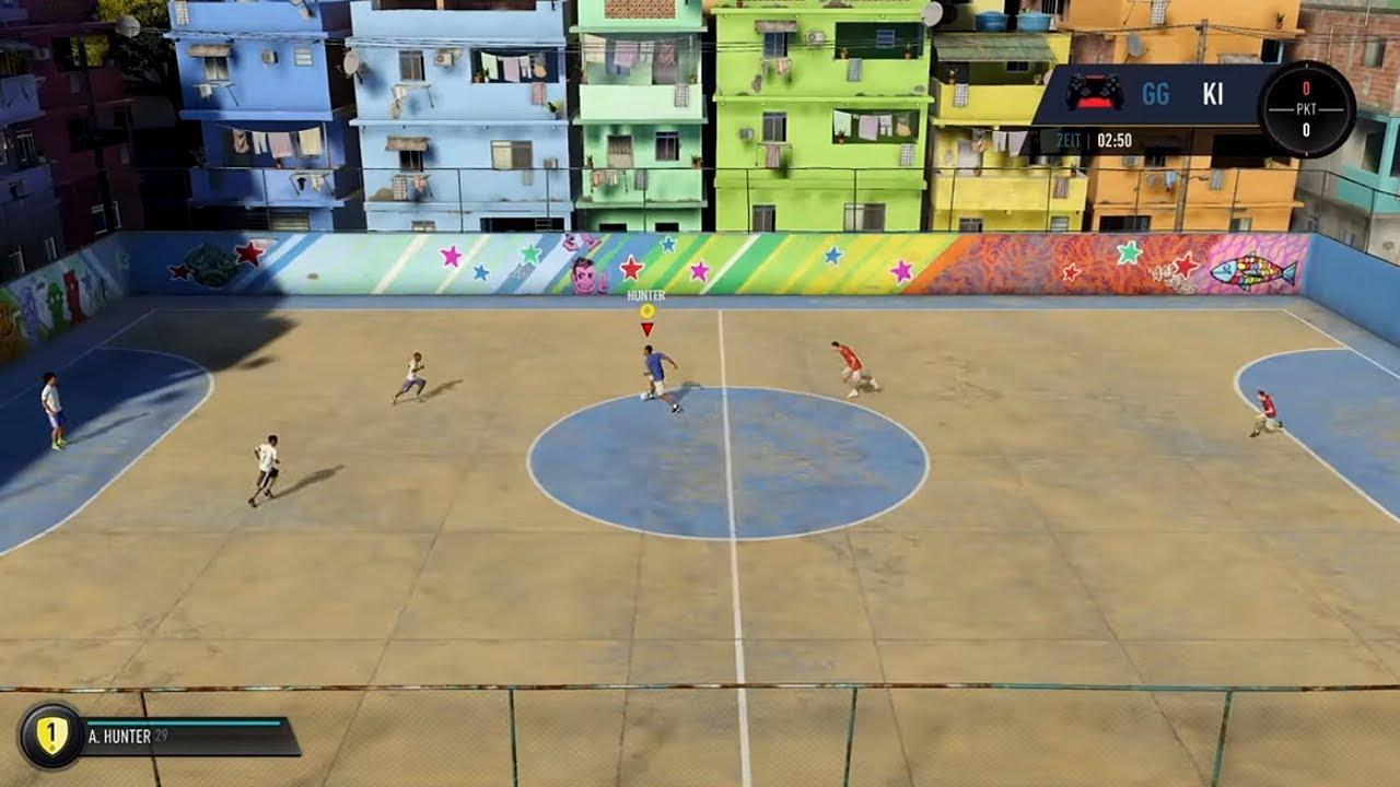 The opening section of Hunter Returns sees you take on kids in a game of street football in Brazil