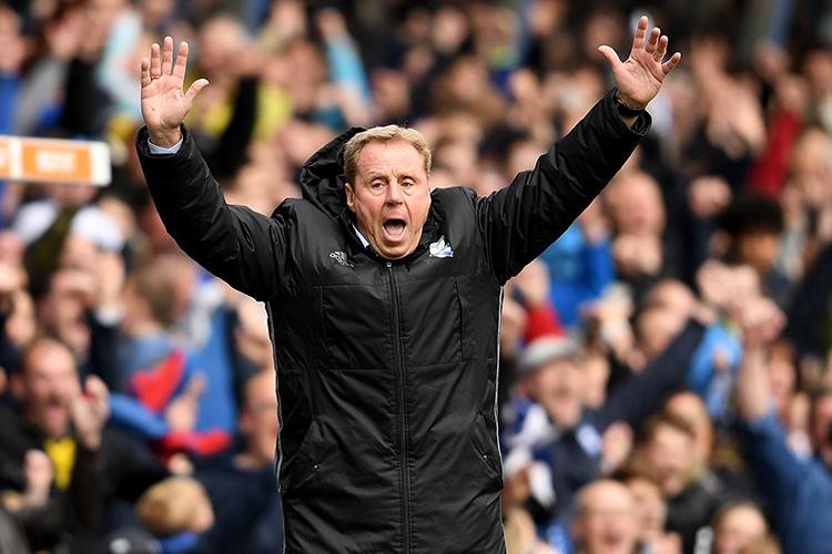 Harry Redknapp reacts to seeing the Huddersfield team sheet