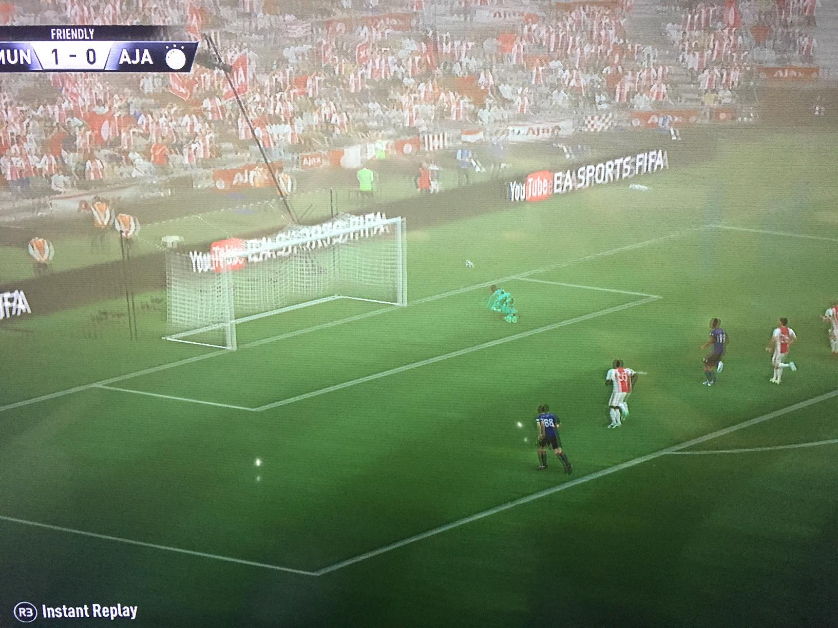 Onana parries away a shot from Martial – who ends up having a decent game for the Red Devils