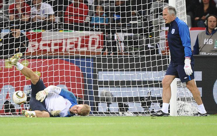 Joe Hart struggles to get his hands on the ball in a major tournament. Make your own jokes.