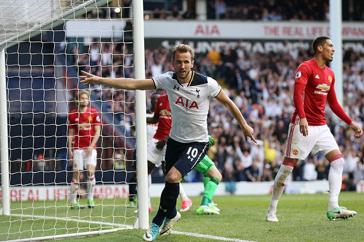 Harry Kane finally gets a goal against United in the Premier League
