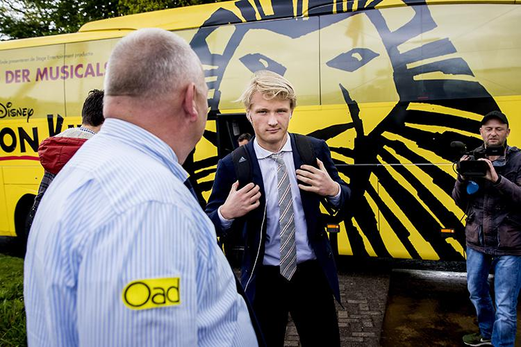 Kasper Dolberg on the way to lectures, presumably