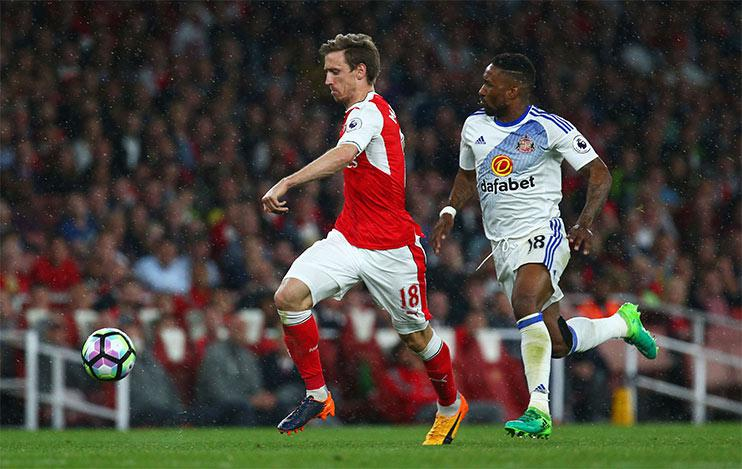 Arsenal left-back Nacho Monreal has topped the Arsenal distance charts by some distance