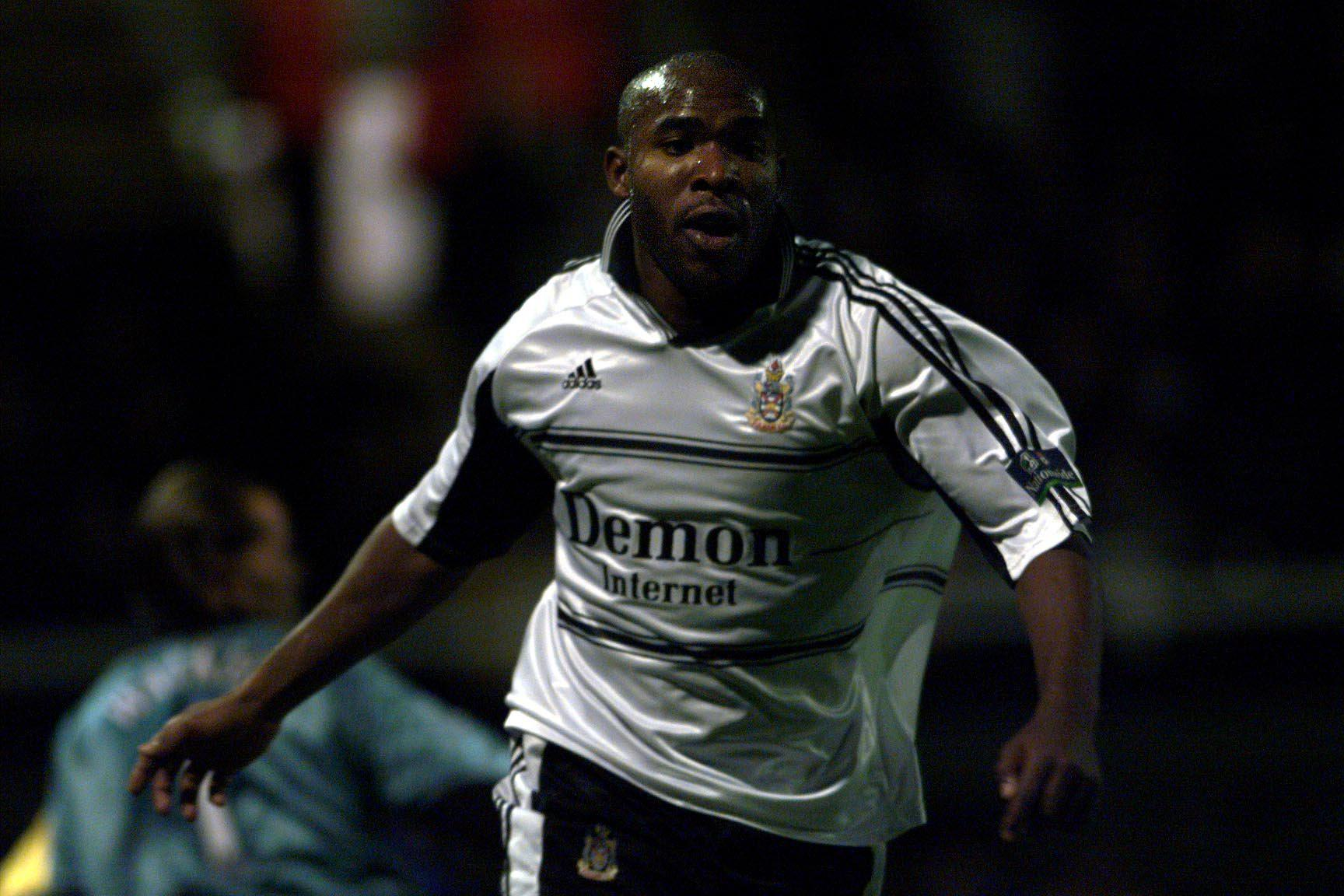 Barry Hayles might be the only player ever to be sent off in a testimonial
