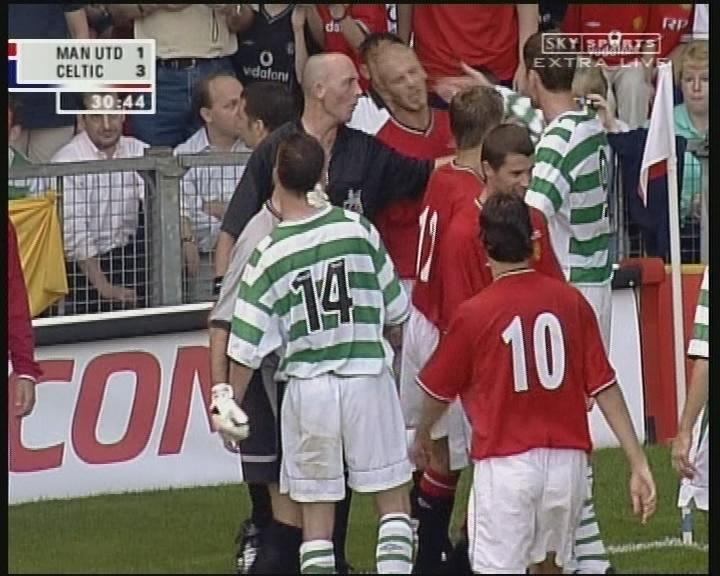 David Beckham was antagonised throughout by the Celtic players