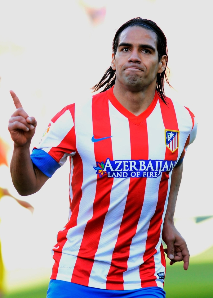 Radamel Falcao played for Atletico Madrid from 2011-2013