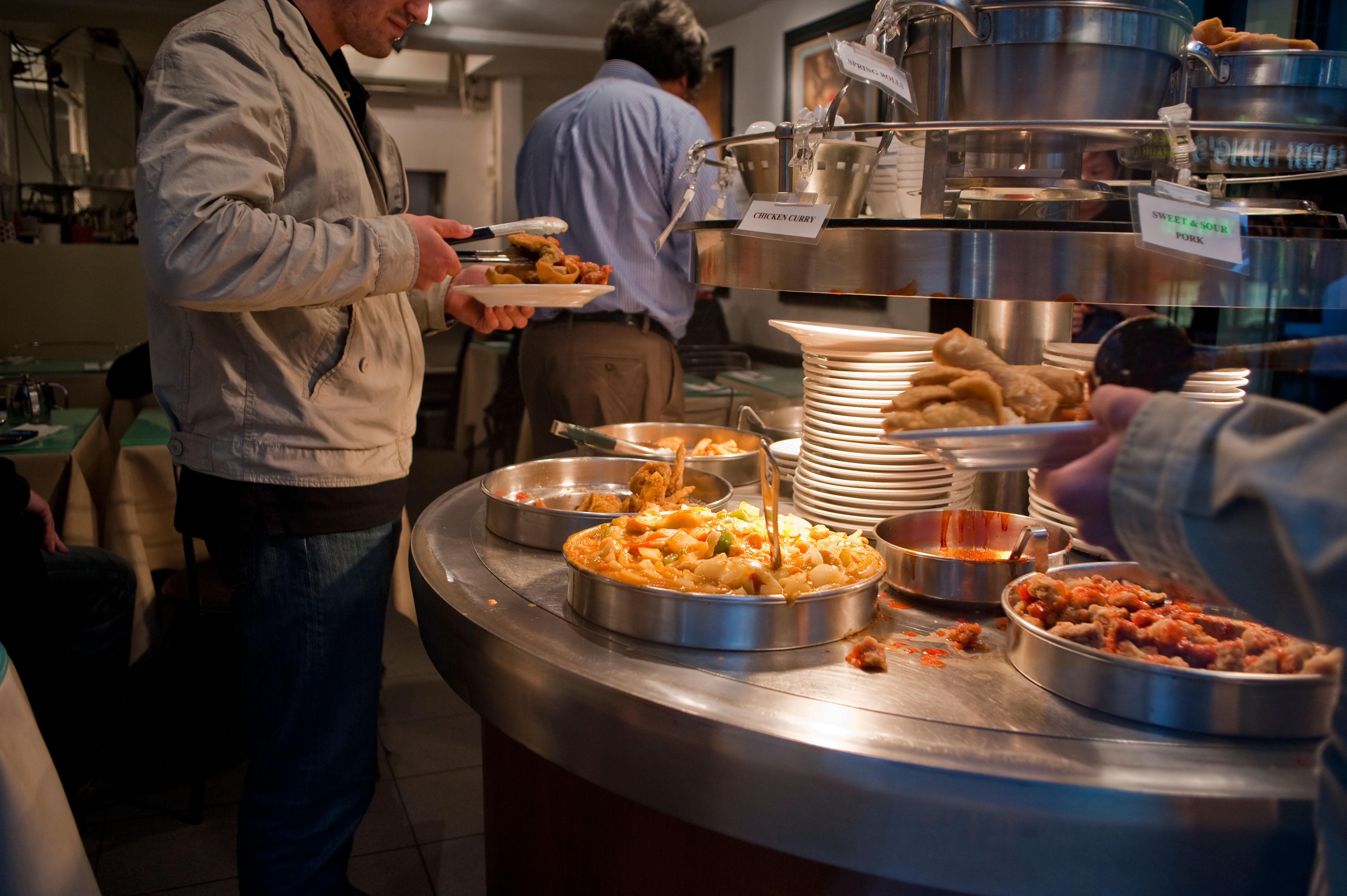 Buffet food is the norm if a club choose not to send their own head chef to away games