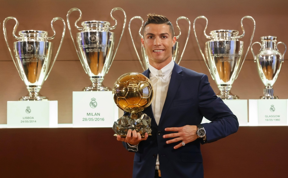 Cristiano Ronaldo won the 2016 Ballon d'Or ahead of Lionel Messi