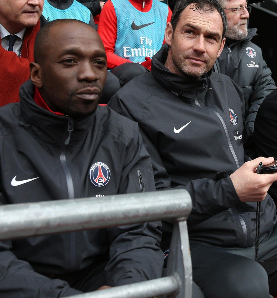 Claude Makelele and Paul Clement were previously on the Paris St Germain coaching staff together