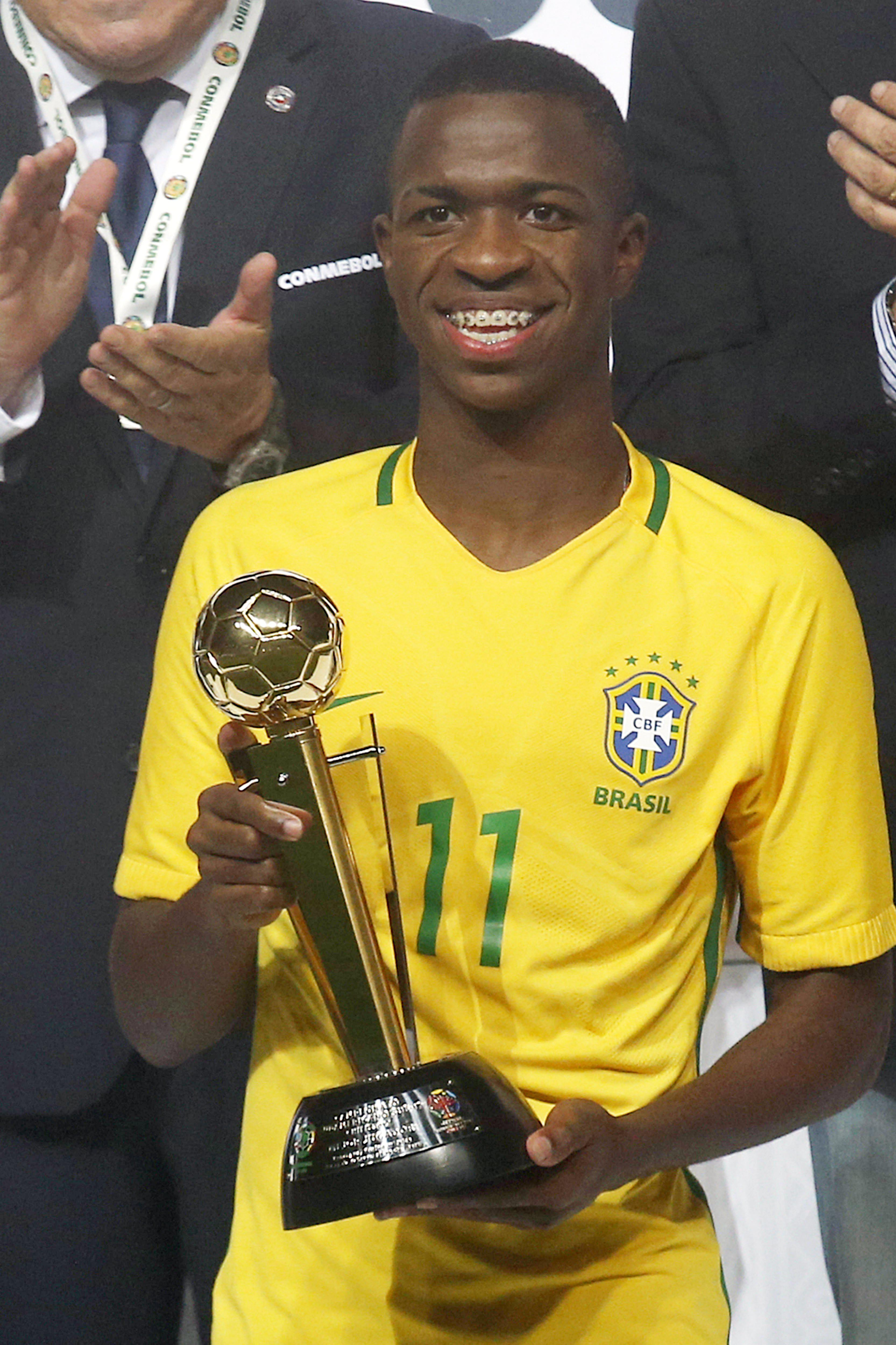 Vinicus Junior led Brazil to glory at the South American Under-17 Championship