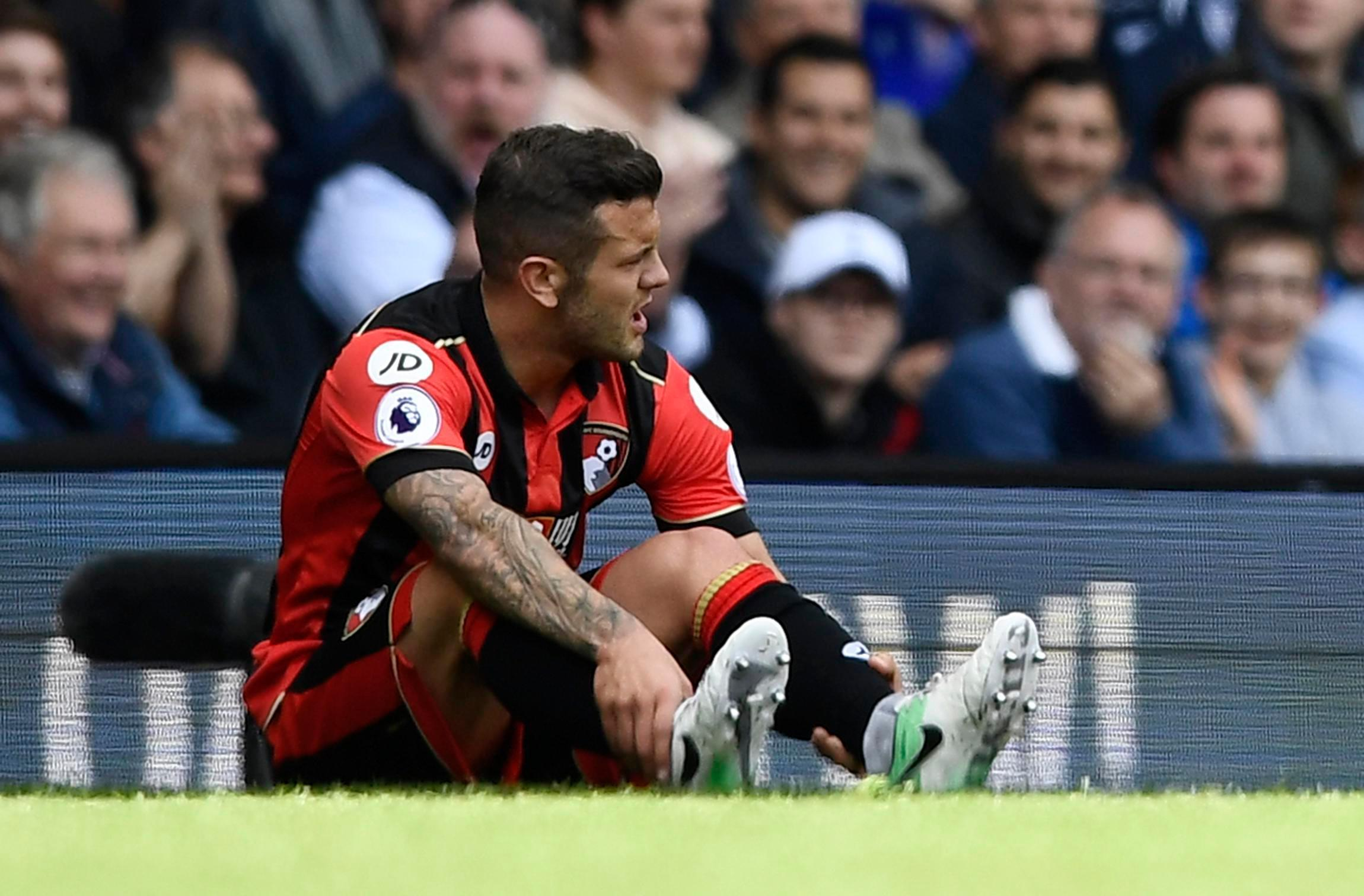 Jack Wilshere is currently recovering from a broken leg