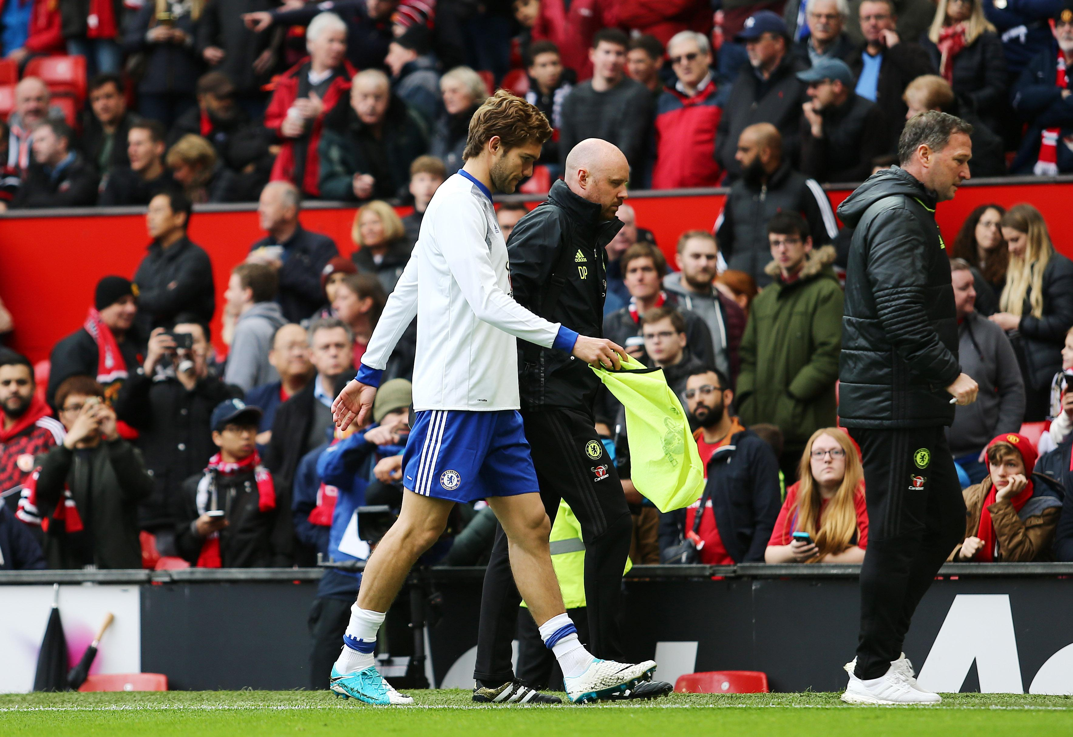 Marcos Alonso fell ill before a game at Manchester United last month