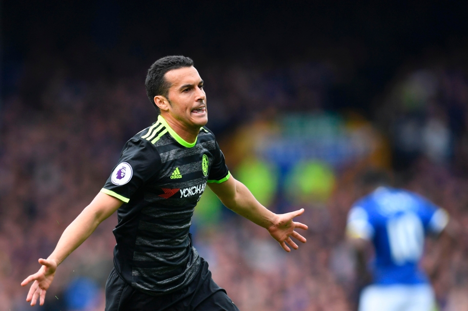 Pedro's goal at Everton on Sunday set Chelsea on their way to victory