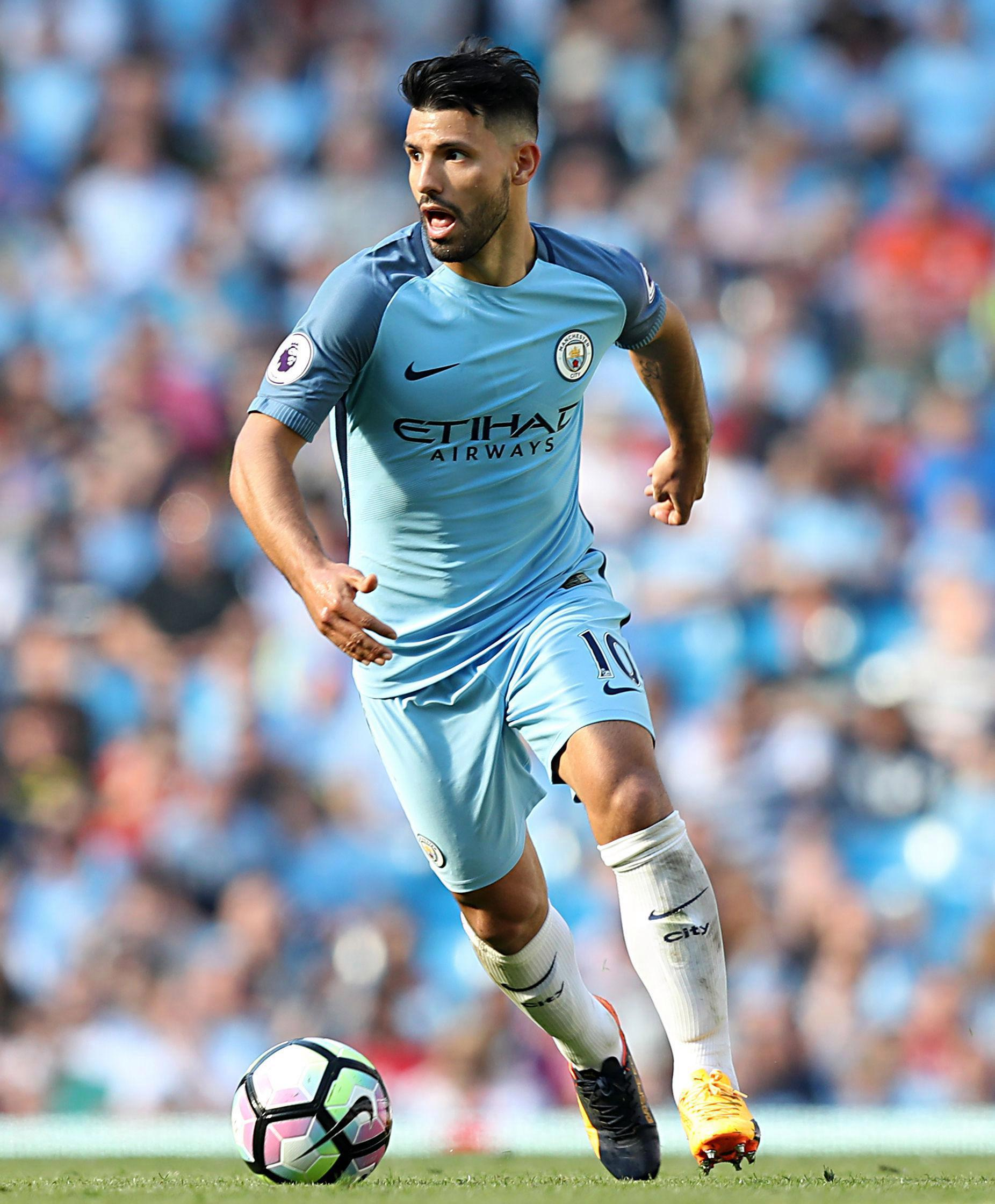 Sergio Aguero has scored 18 goals in the Premier League for Manchester City this season