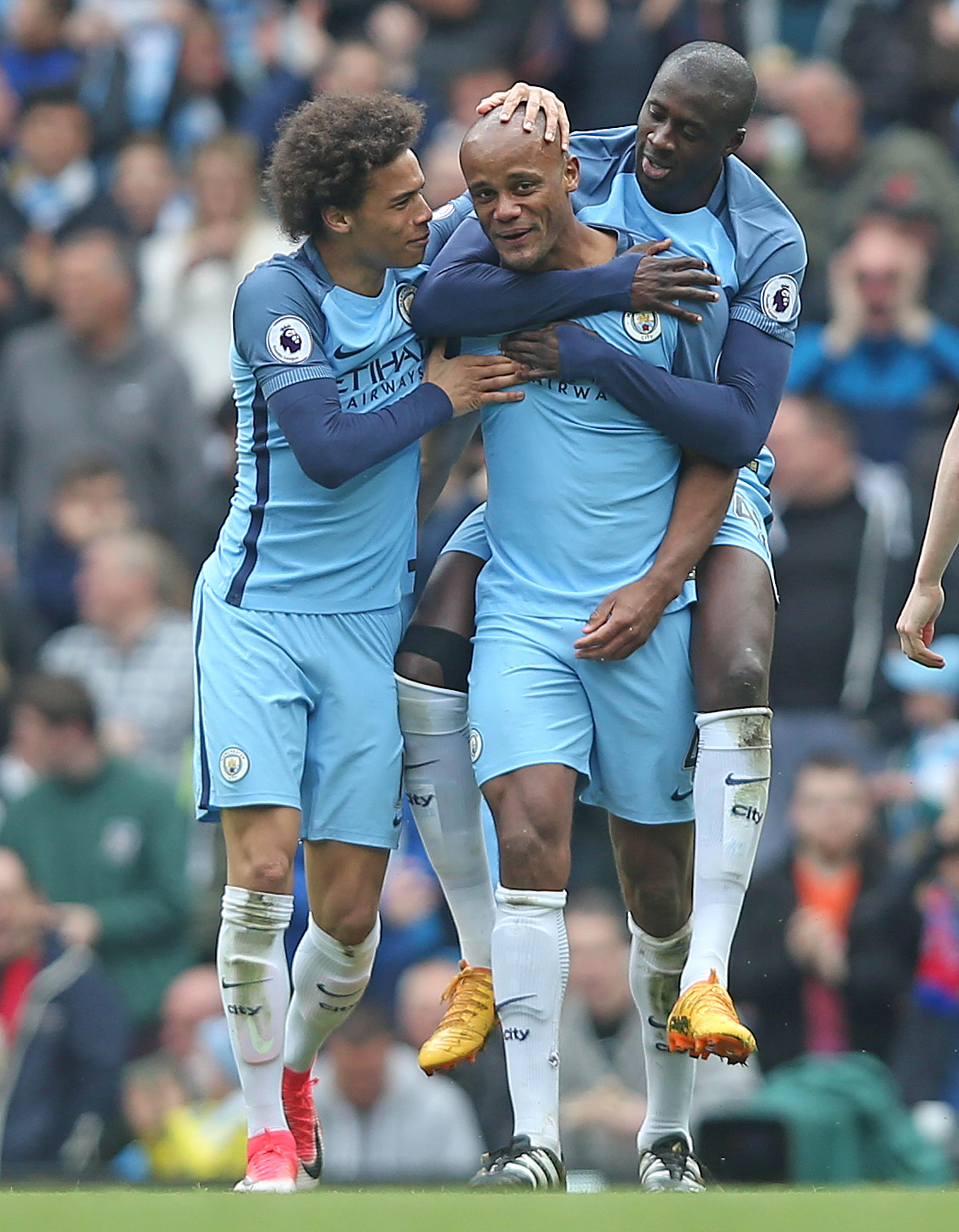 Captain Vincent Kompany struck just four minutes into the second half at the Etihad