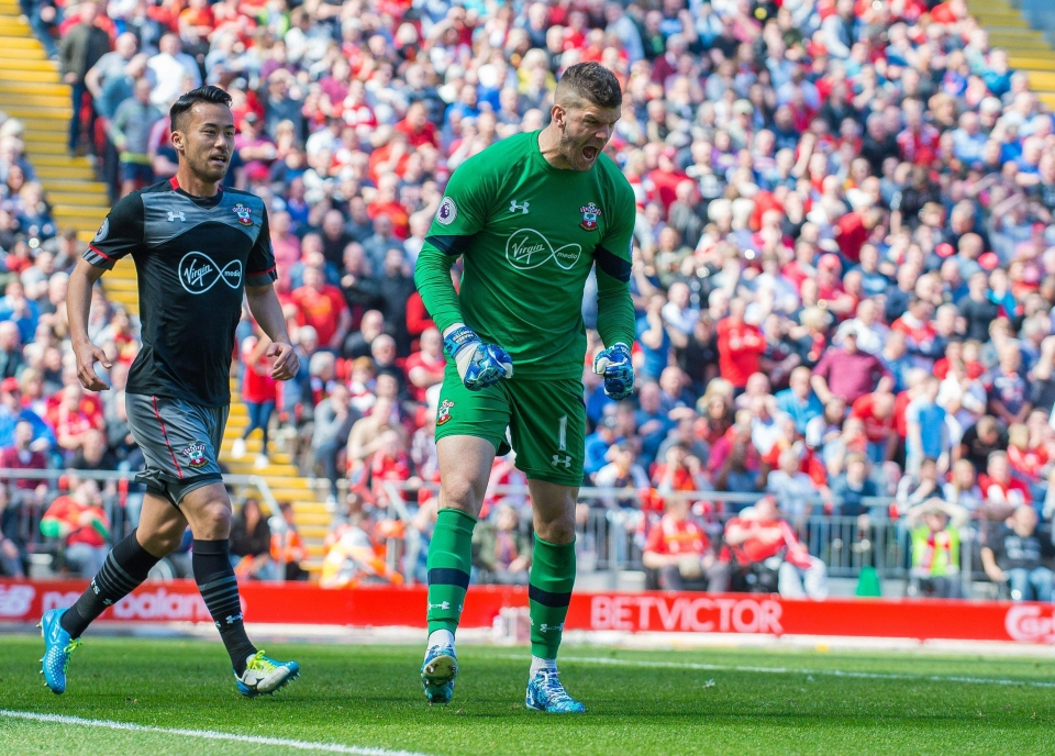 Fraser Forster has racked up 37 points against Liverpool alone this season