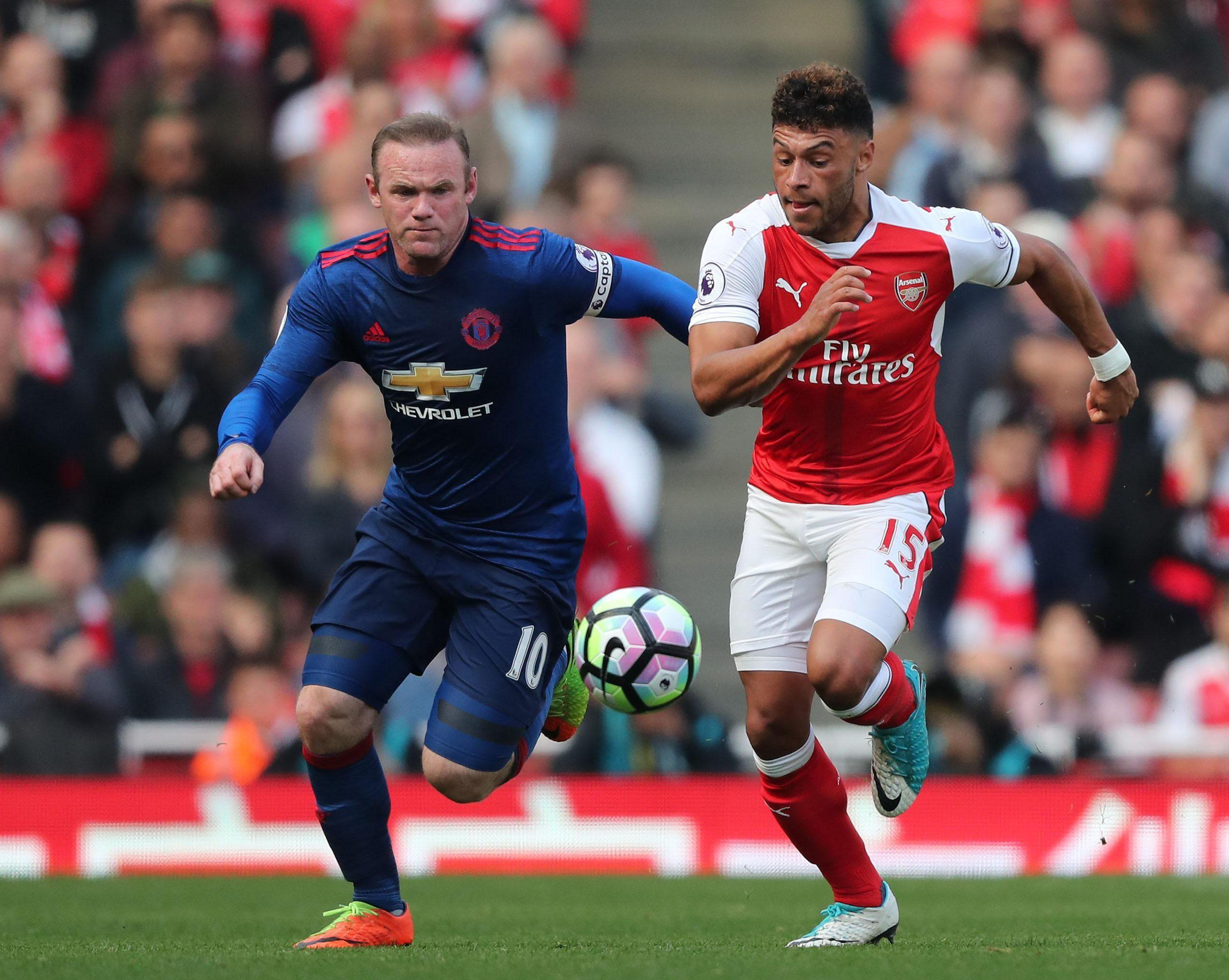 Alex Oxlade-Chamberlain was too agile for the ageing Wayne Rooney