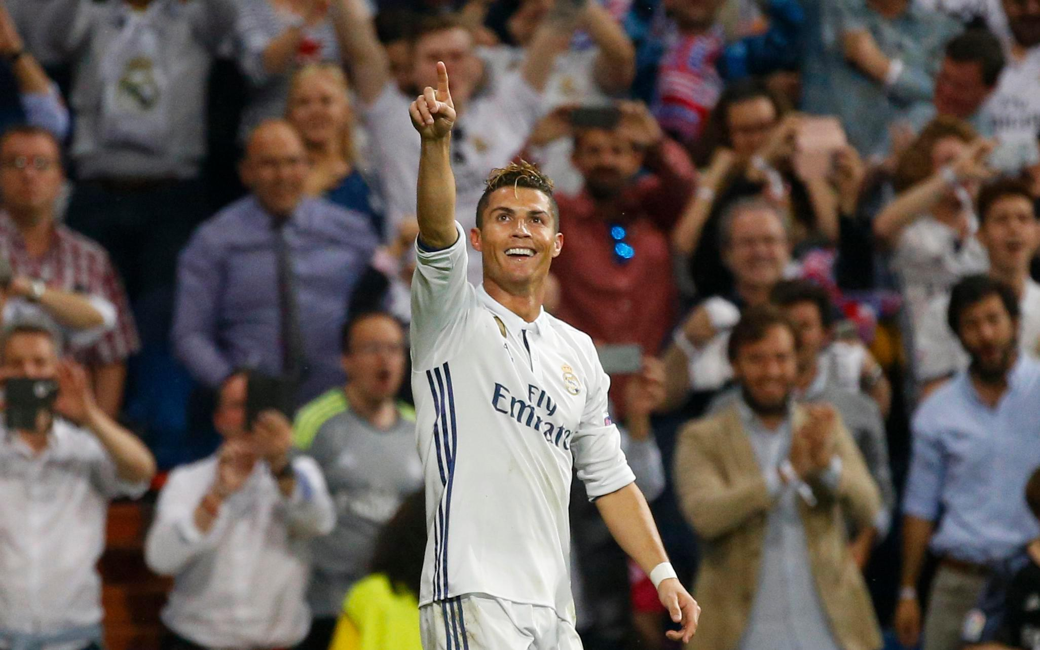 Cristiano Ronaldo scored a hat-trick against Atletico in semi-final first leg victory