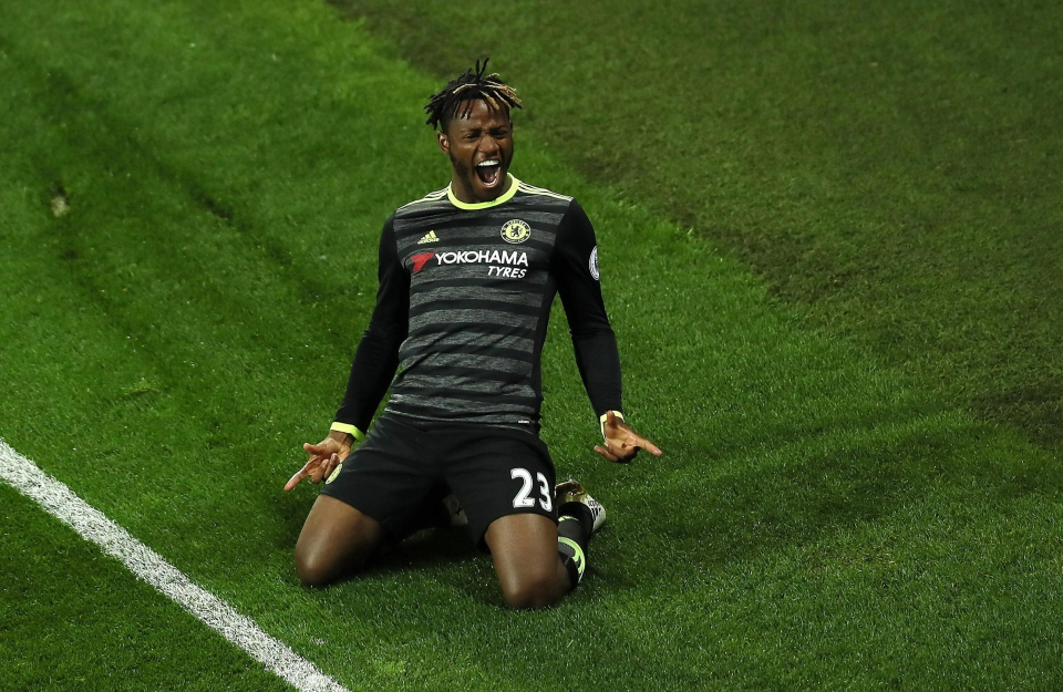 Michy Batshuayi celebrates his famous strike
