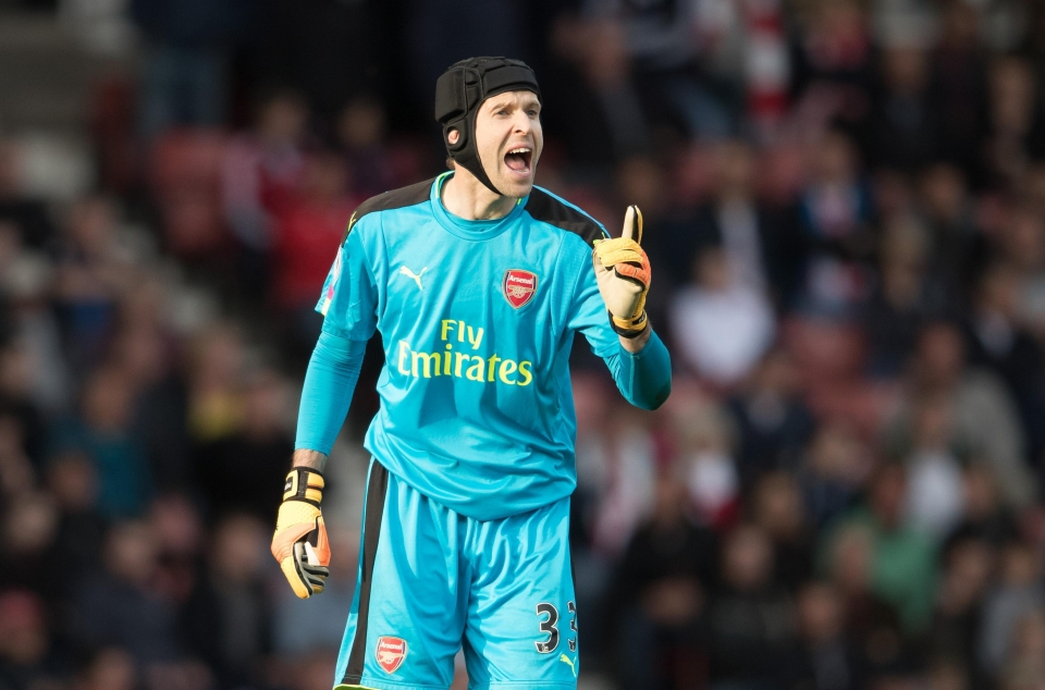 Cech must be sick of the number five