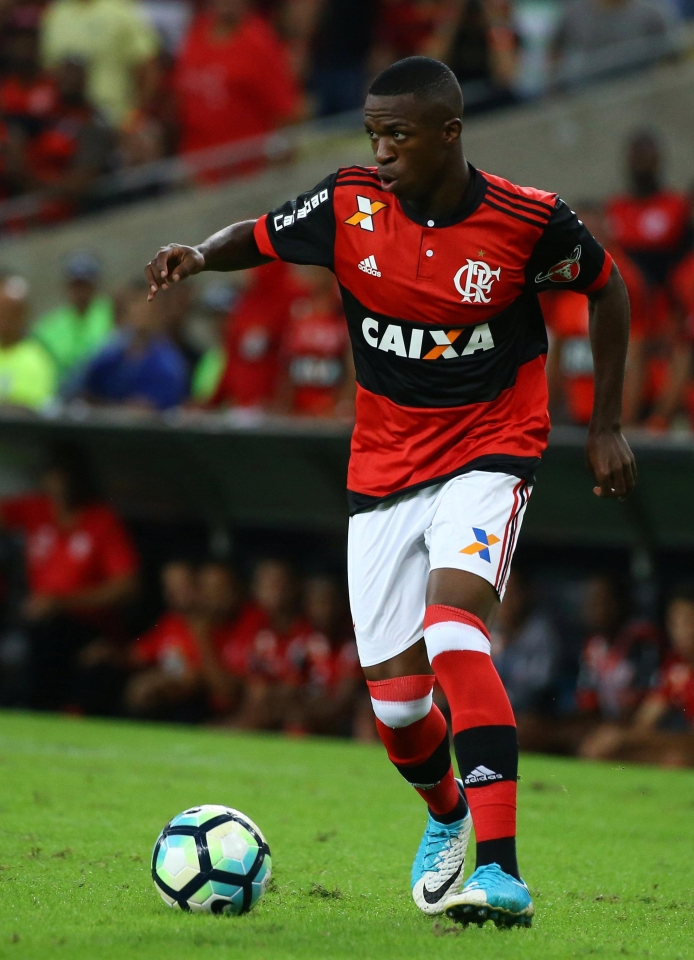Brazilian youngster Vinicius Junior will officially join Real Madrid this summer