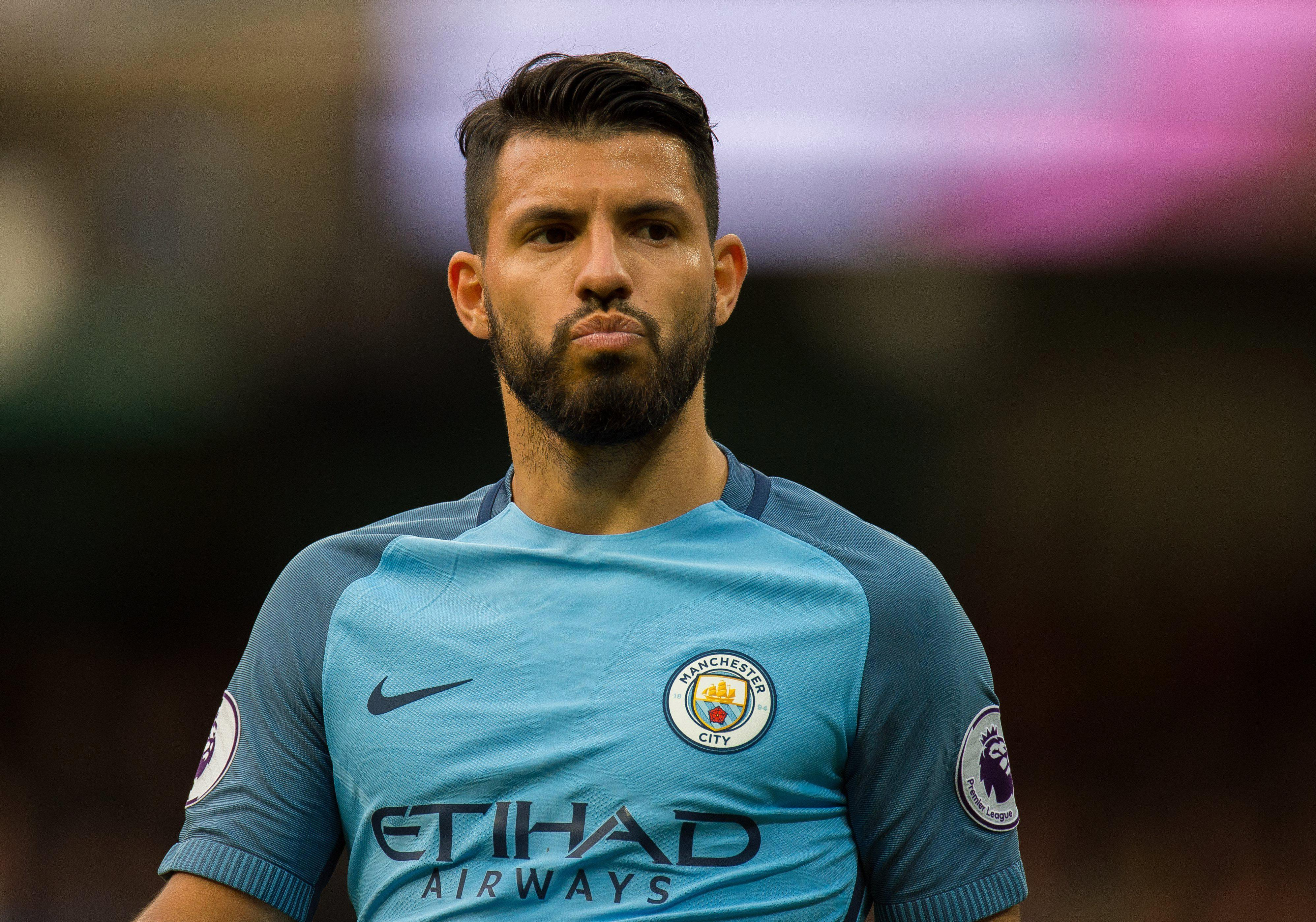 Sergio Aguero has fallen behind Gabriel Jesus in the Manchester City pecking order