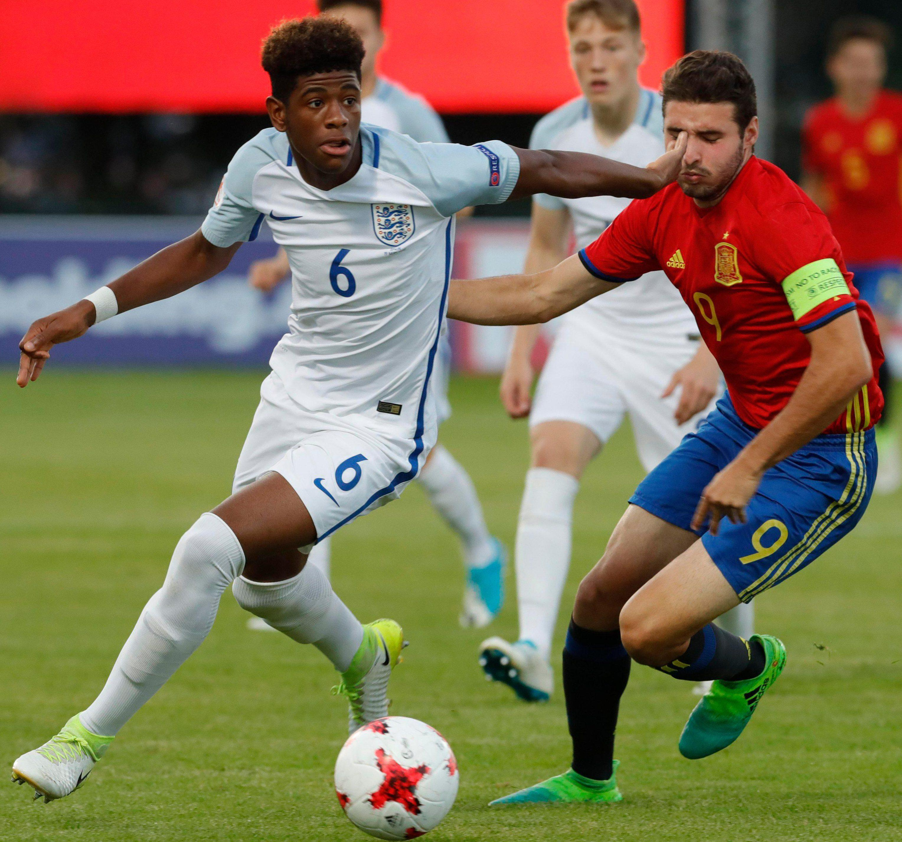The game was one in the eye for England's youngsters, and literally one in the eye for some Spain players
