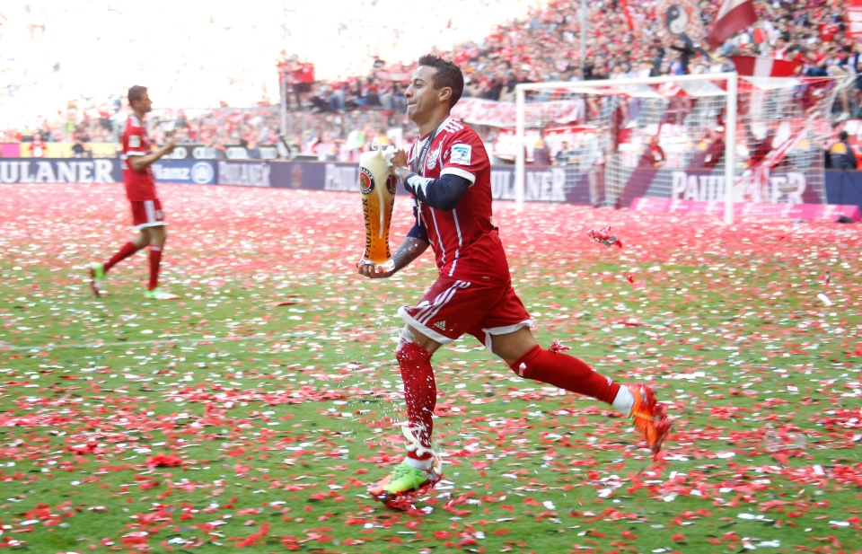 Thiago was statistically the best player in the Bundesliga last season