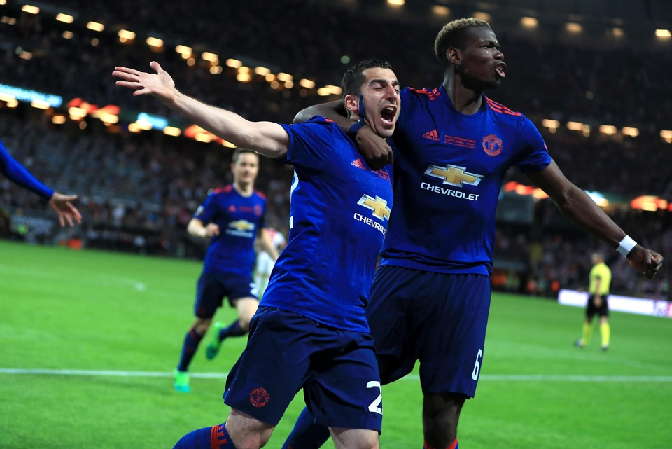 Henrikh Mkhitaryan and Paul Pogba fired Man United to Europa League glory