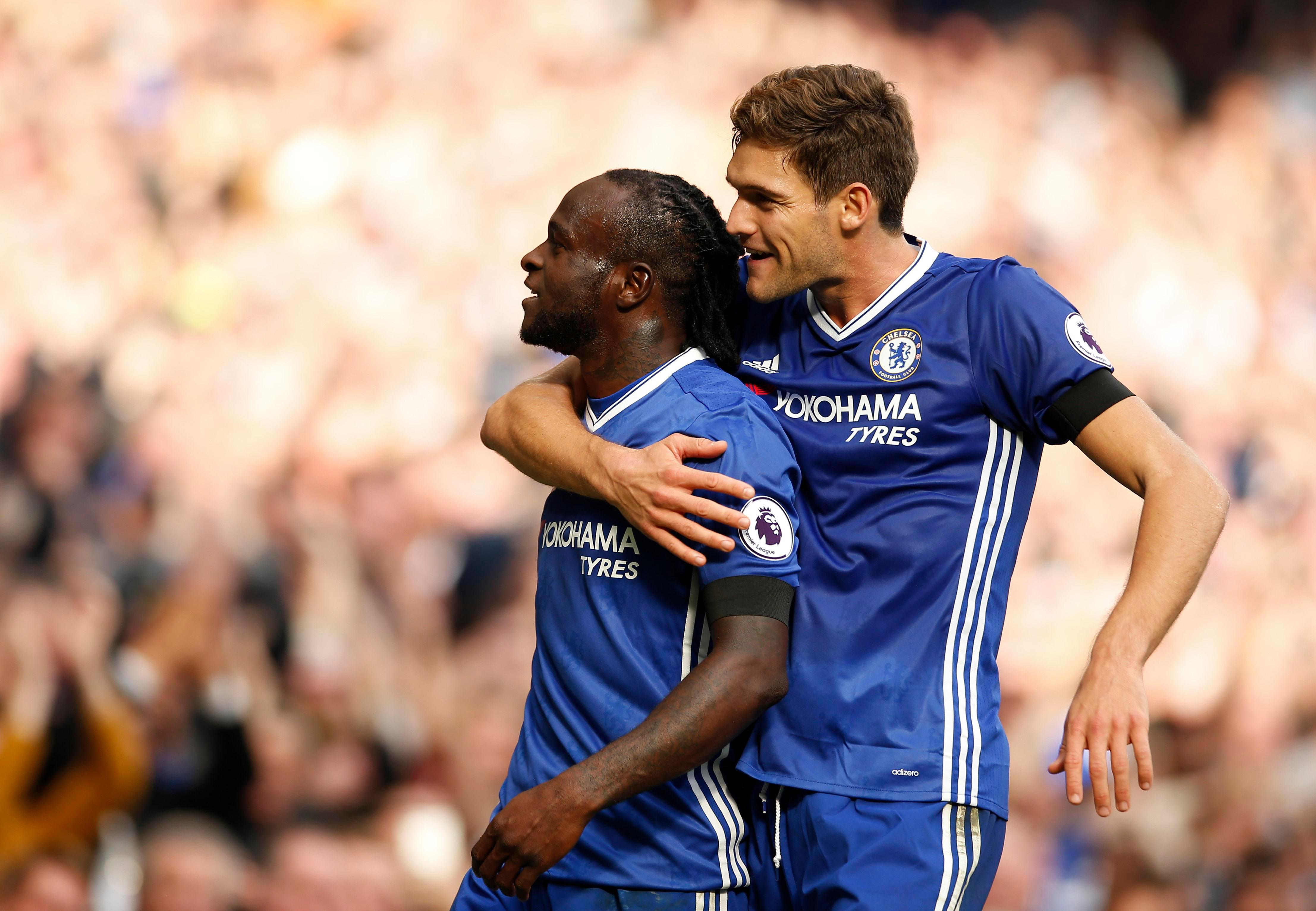 Victor Moses, left, and Marcos Alonso, right, have been two of the stars of the Premier League season